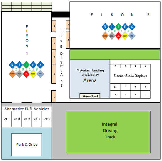 The NIIEX Exhibition Layout